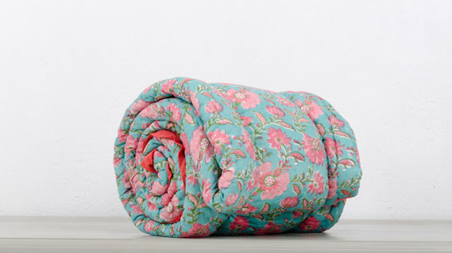 Indian Quilted King Bed Cover