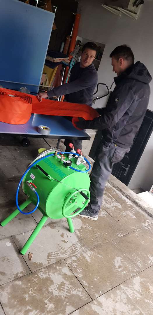 Bezvýkopová oprava potrubí