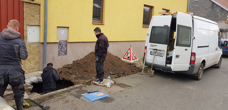 Rekonstrukce ležaté kanalizace