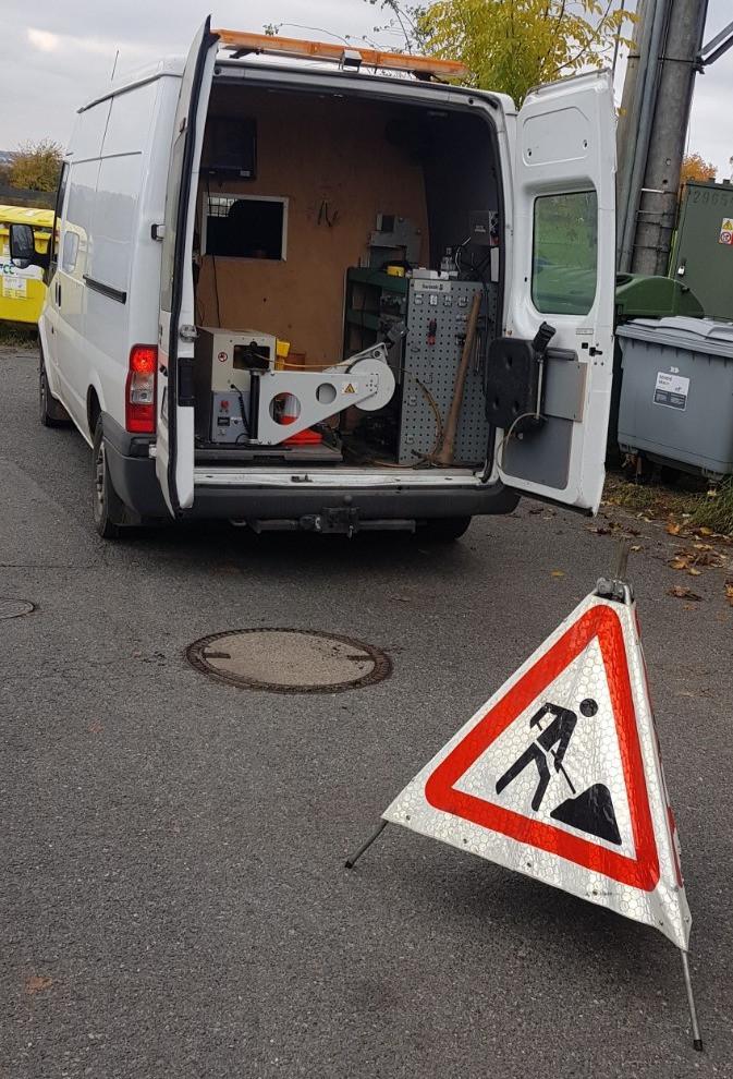 Kamerový průzkum splaškové kanalizace