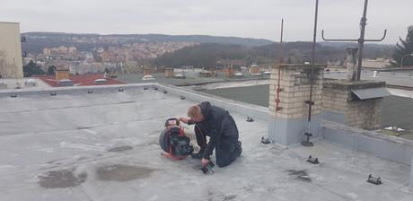 Kontrola dešťového svodu