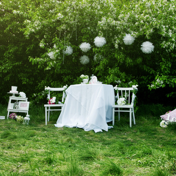 Il bianco, colore dei sogni, abbracciato dalla verde delicatezza della natura.