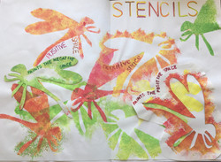 Stencilling with positive and negative s