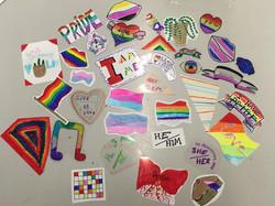 Pride Shrink Plastic Badge Making 2019