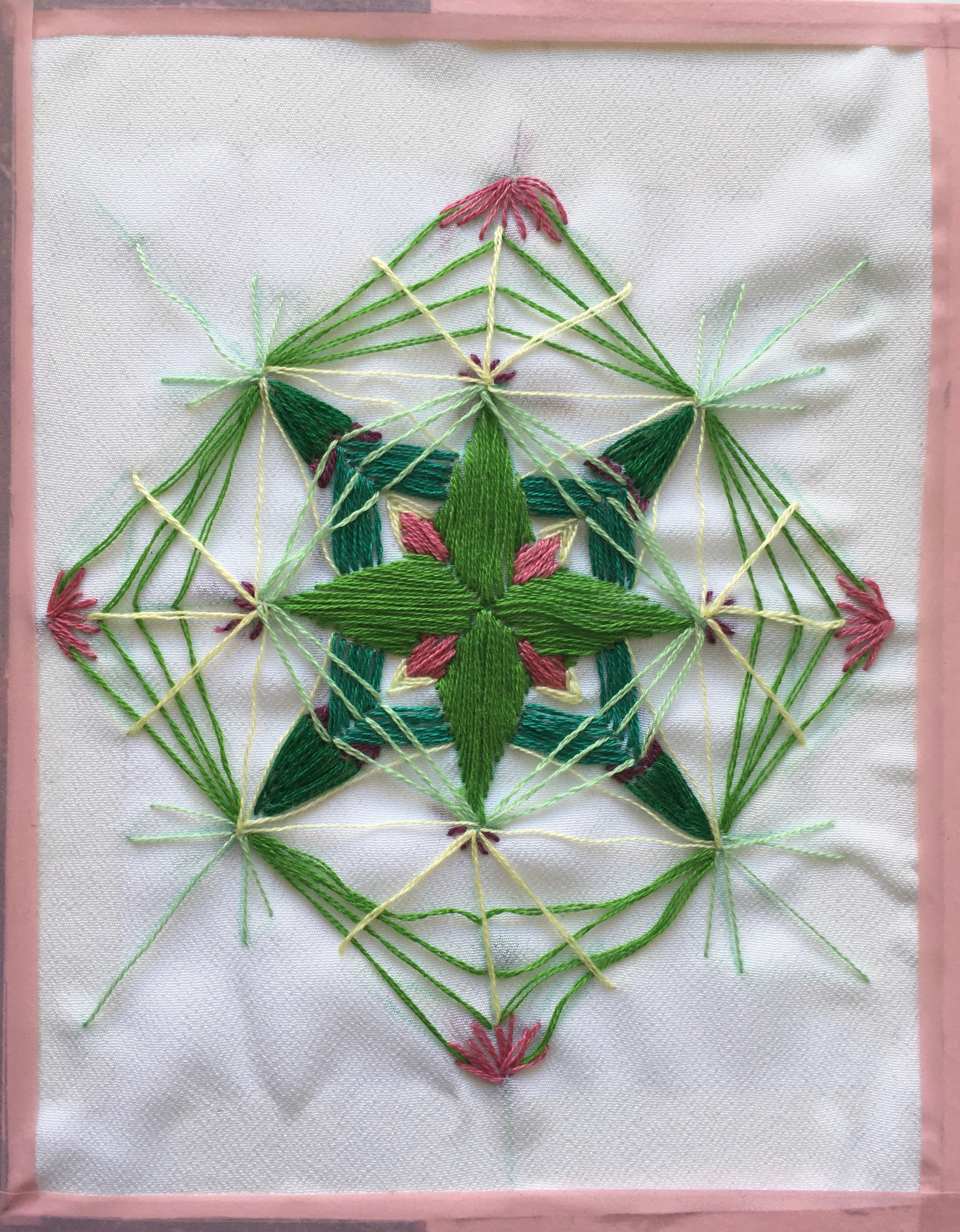 Symmetrical embroidery