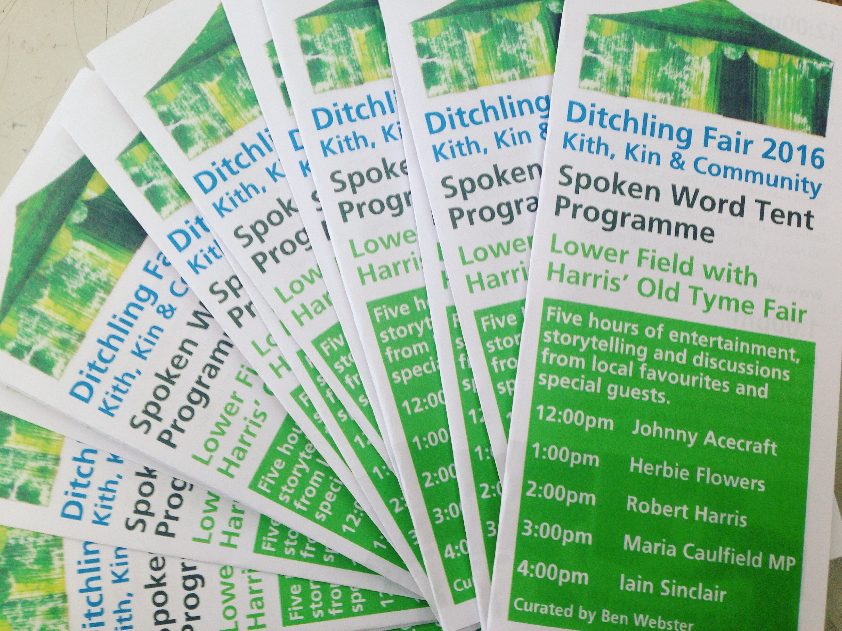 Spoken Word Tent Programme