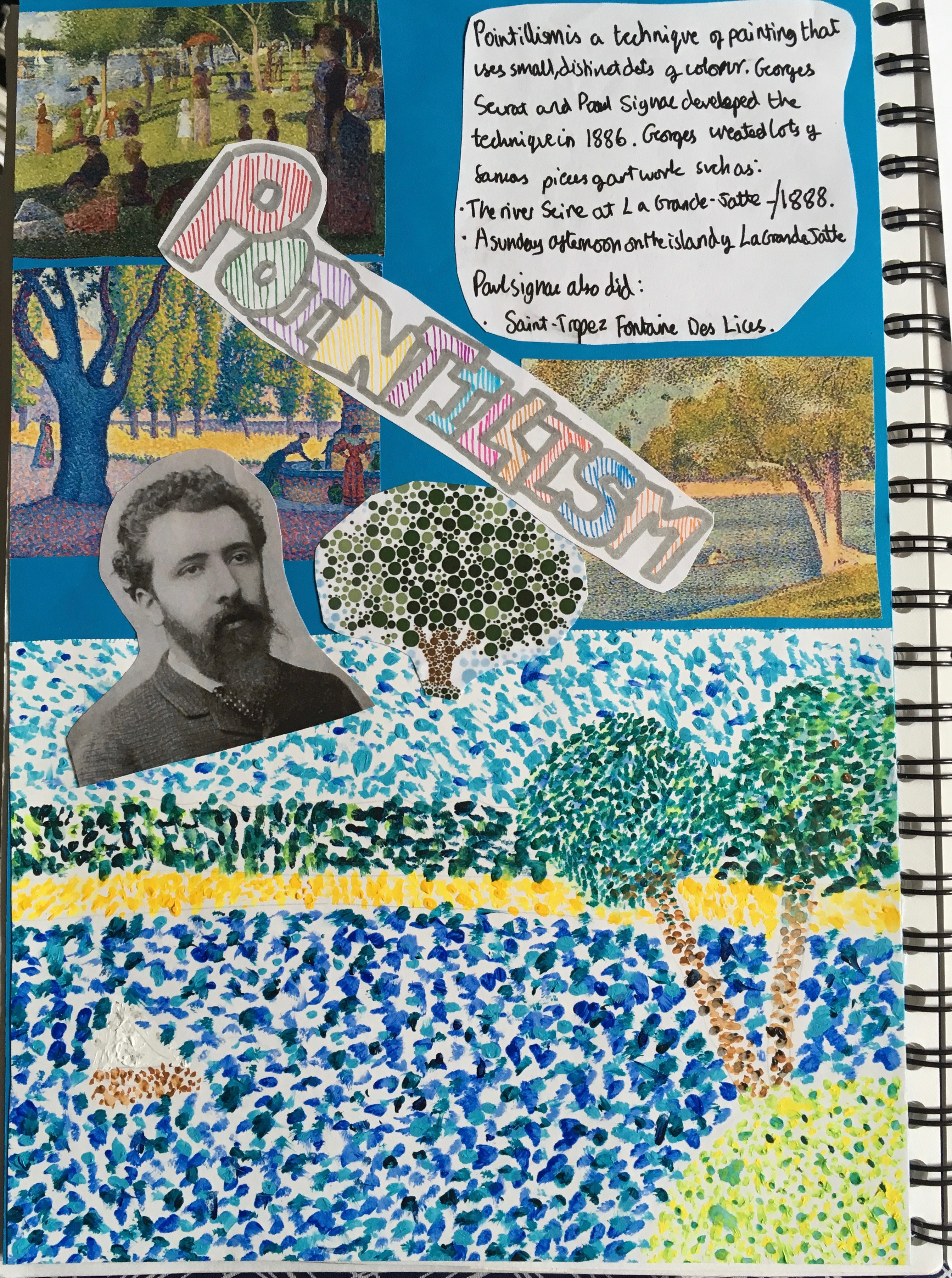 Year 7 Pointillism
