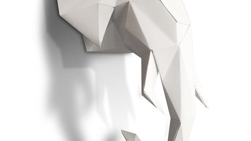 Tête d'éléphant 3D
