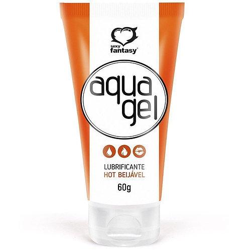 Lubrificante Aqua Gel Hot Beijável 60G