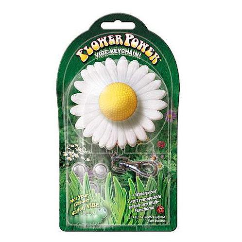 Vibrador em formato de flor chaveiro