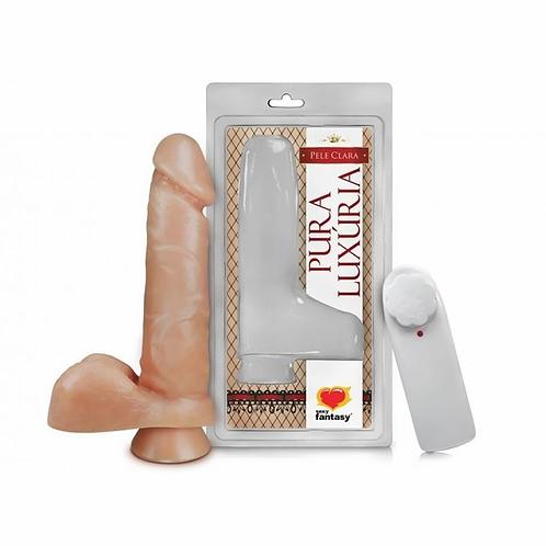 Pênis com Escroto Vibro e Ventosa