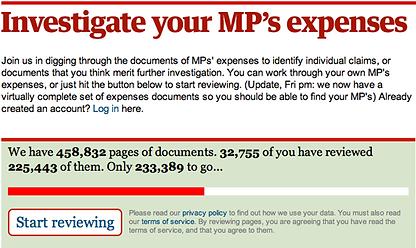Investigue as despesas do seu MP (The Guardian)