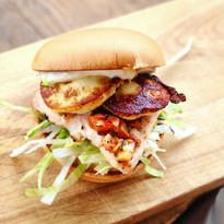 burger de poulet grillé, brushetta & dor
