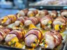 Poulet bacon farci aux asperges & chedda
