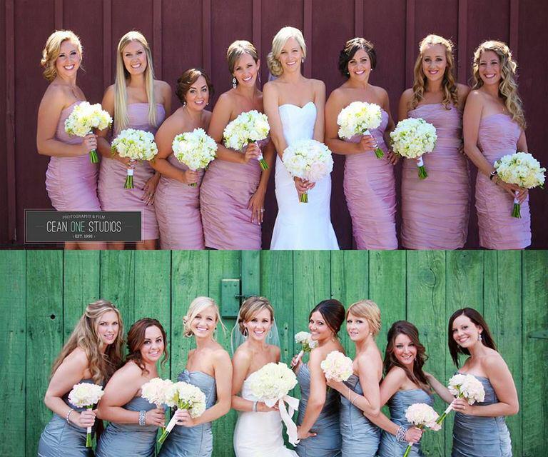 Beautiful Bride & Bridesmaids Hair