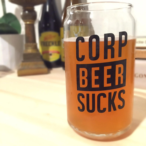 Corp Beer Sucks Glassware