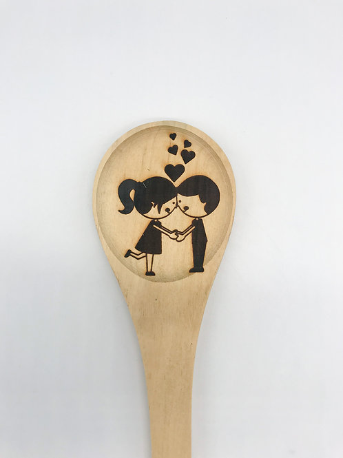 Engraved Couple's Sustainable Wooden Spoon