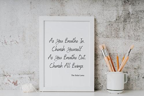 Dalai Lama Quote - Wall Art Print