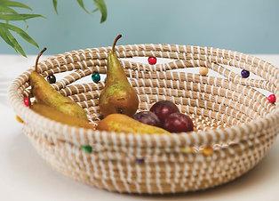 Large Artisanal Seagrass Woven Basket