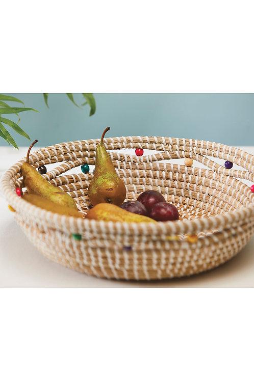 Large Shallow Artisanal Handmade Seagrass Woven Bowl/Dish