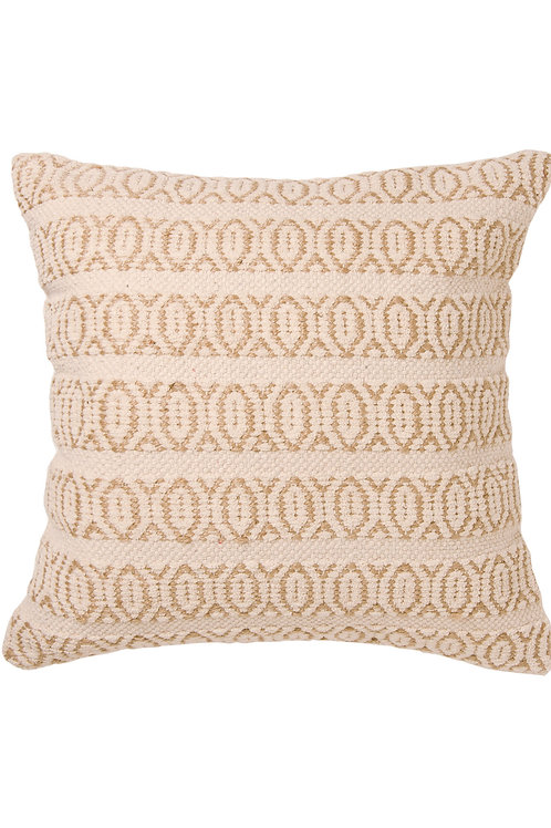 Eco-Friendly Handmade Recycled Cotton and Organic Natural Jute Large Cushion Cover