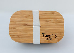 Personalised Eco Bamboo Lunchbox