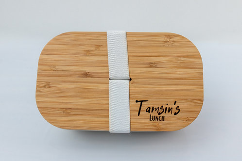 Personalised Eco-Friendly Bamboo Ethical Zero-Waste Lunchbox