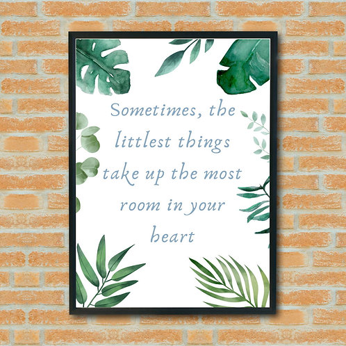 Eco Friendly Inspirational Quote Wall Art Print Ethical FSC Handmade Shop Small UK GB