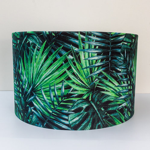Tropical palm leaf eco-friendly organic made-to-order lampshade