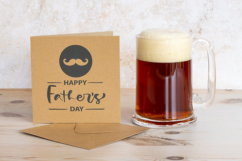 Handmade eco-friendly father's day card UK - with envelope free delivery
