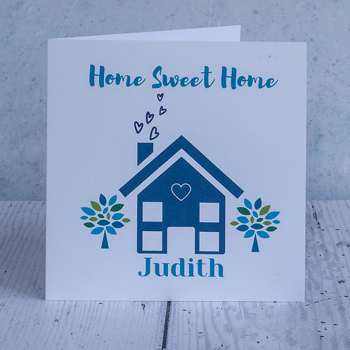 Personalised Recycled New Home Card