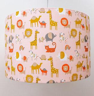 Organic Safari Lampshade - Pink