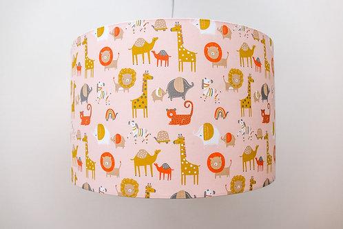 Organic Sustainable Safari Lampshade eco-friendly handmade kids