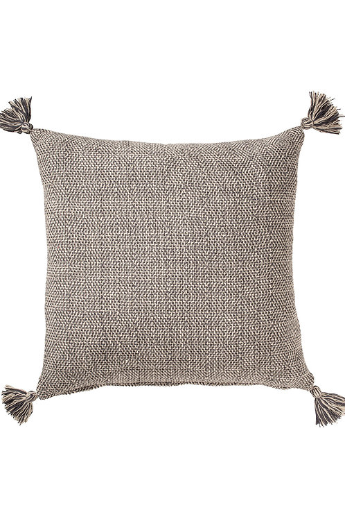 Large Hand-loomed Recycled Cotton Tassel Cushion Cover