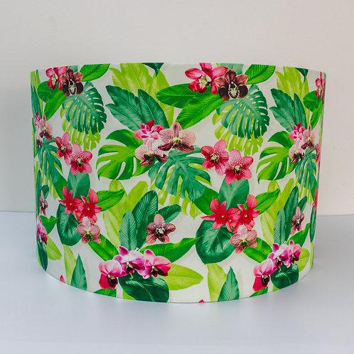 Tropical organic cotton eco-friendly lampshade handmade UK GB shop small