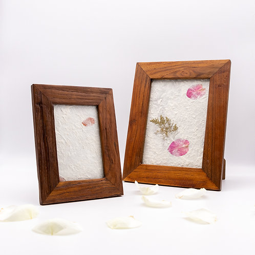 Sustainable Reclaimed Wooden Teak Fairtrade Photo / Picture Frame