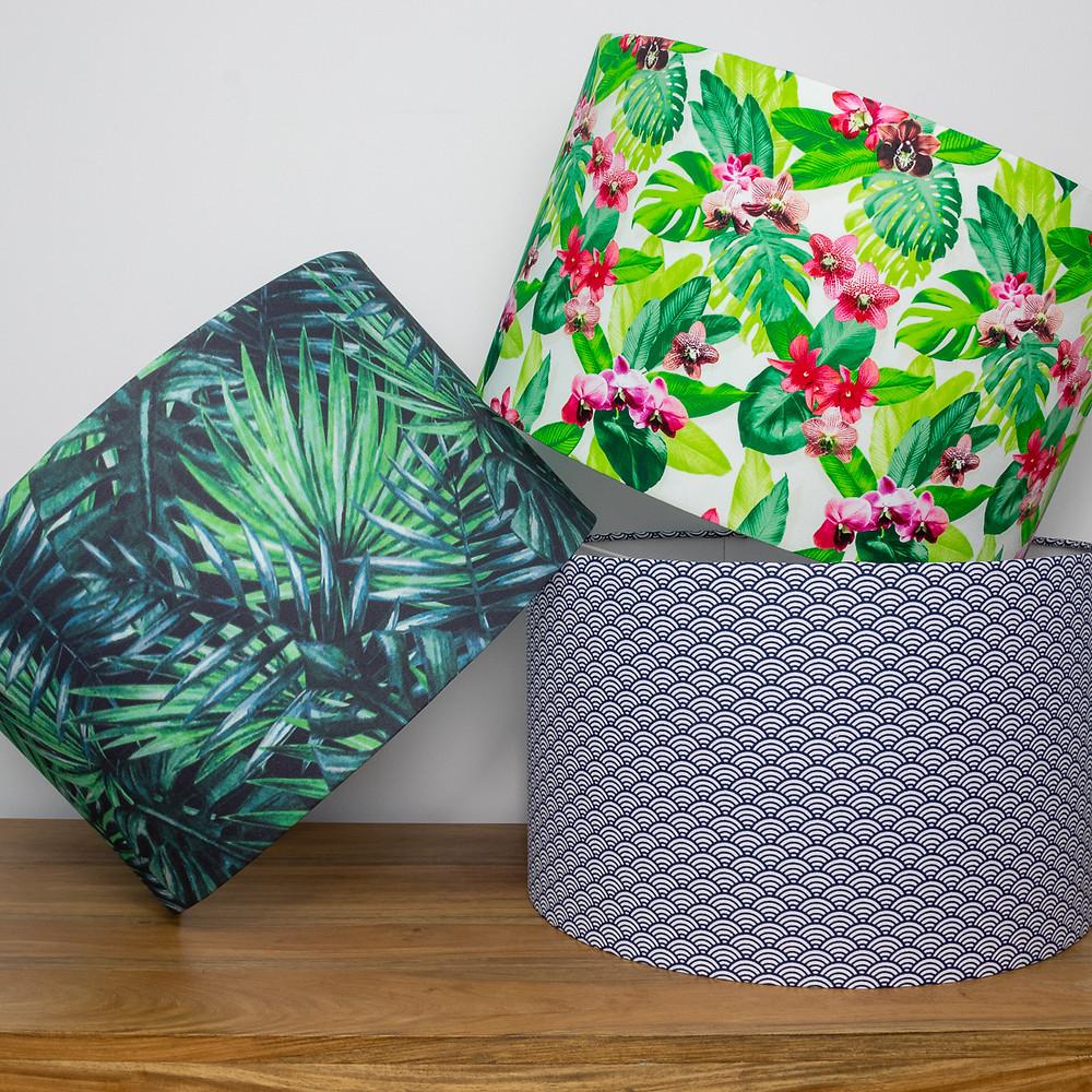 Eco-Friendly Handmade Organic Cotton Fabric Drum Lampshades