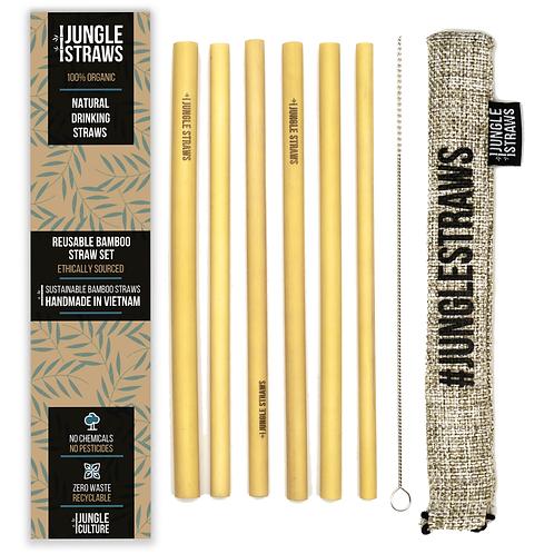 Organic Bamboo Eco-Friendly Reusable Straws Zero Waste