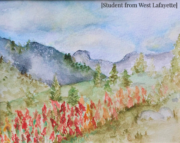 Painting of Nature from a West Lafayette Student