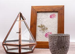 Recycled Glass & Copper Terrarium/Planter/Lantern
