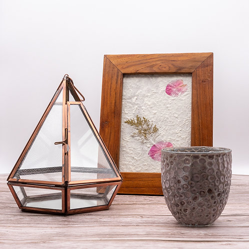 Recycled Glass & Copper Terrarium/Planter/Lantern