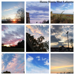A collage of clouds from Hanna Morris.