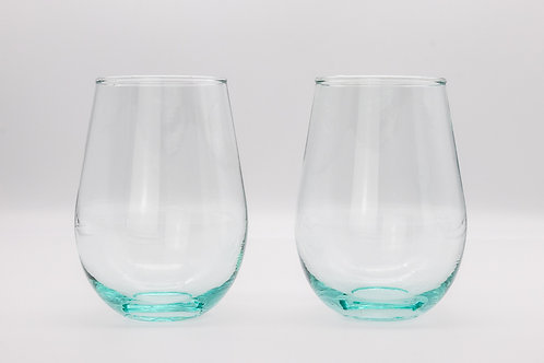 Fair Trade Recycled Glass Eco-Friendly Tumbler Glasses Set of Two