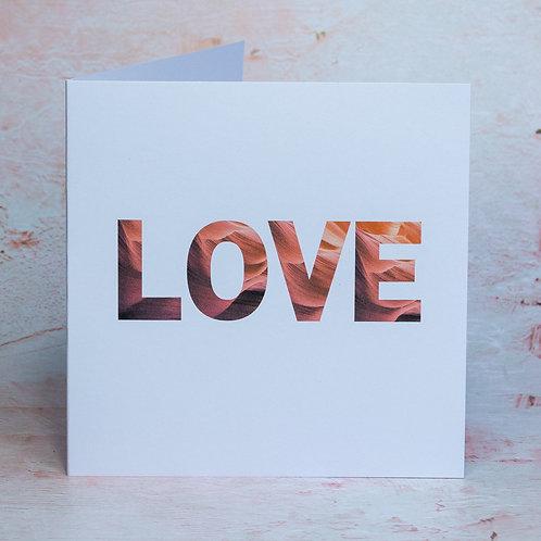 LOVE eco-friendly recycled UK British handmade craft card
