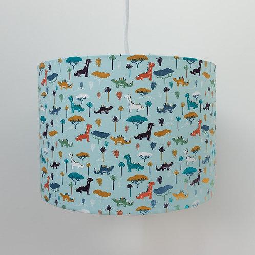 Dinosaur Blue Eco-Friendly Handmade Made To Order Childrens Boys Kids Lampshade