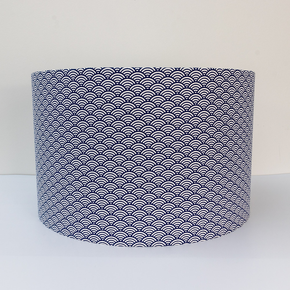 Eco-Friendly Japanese Blue Patterned Lampshade
