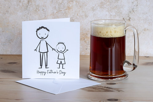 Contemporary handmade ethical eco-friendly recycled father's day card UK