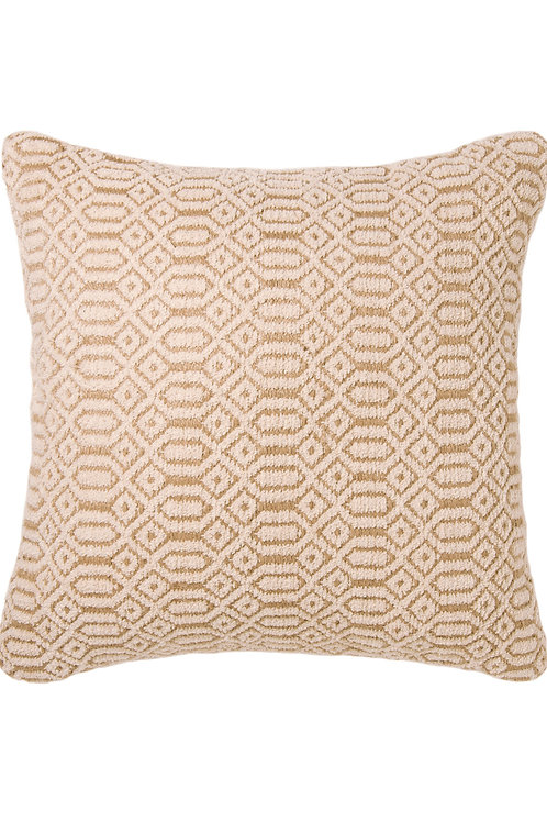 Eco-Friendly Recycled Cotton & Natural Jute Cushion Cover Neutral Geometric