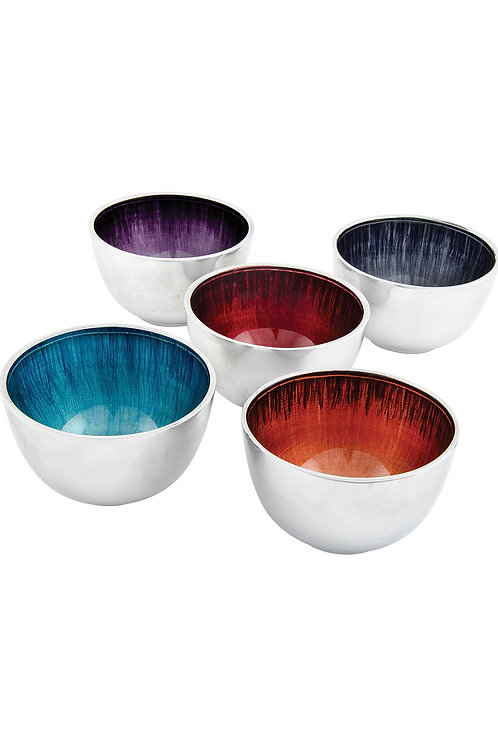 Recycled Handmade Eco-Friendly Fairtrade Metal Small Enamel Bowls