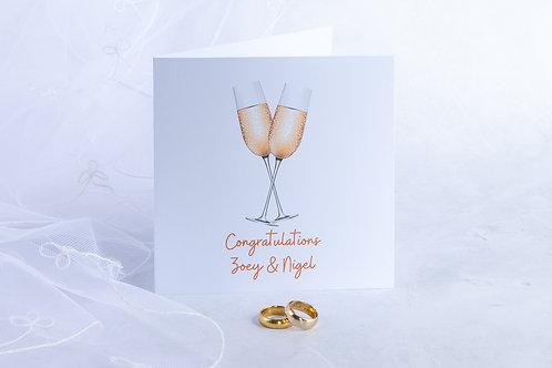 Champagne Celebration Congratulations / Engagement / Wedding Eco-Friendly Handmade Card